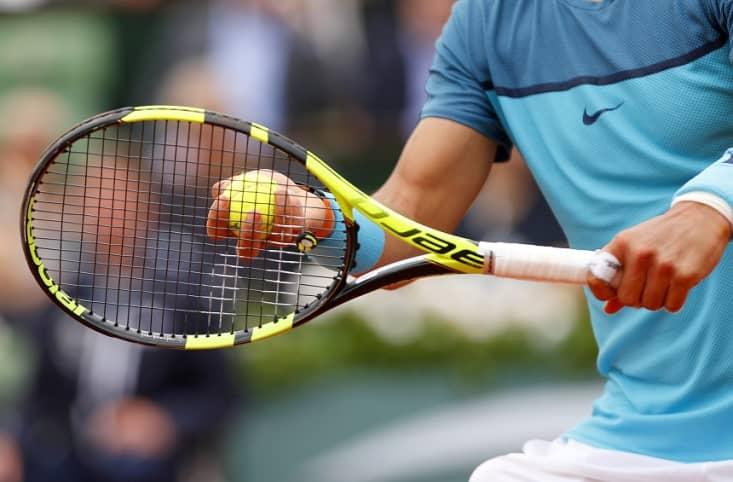 Nadal playing